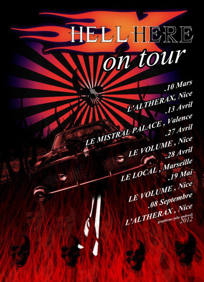 Tour 2012 - Visual by Julie Andreoli
